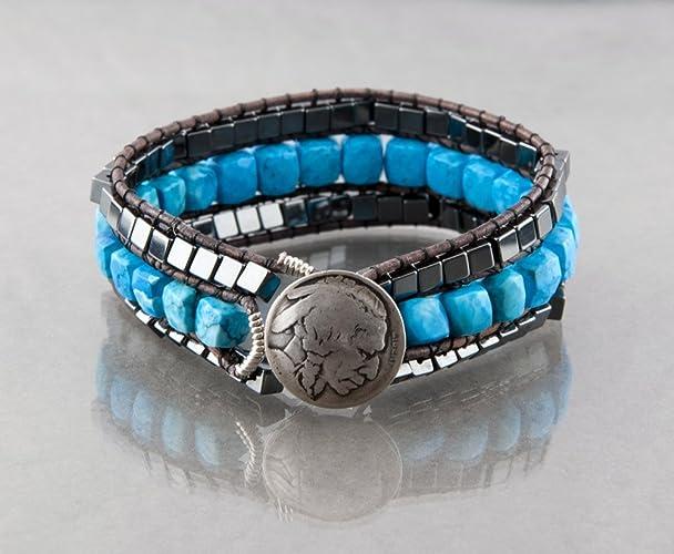 5f48f8b73413 Amazon.com: Men's Bracelets, Men's Turquoise Bracelets, Men's ...