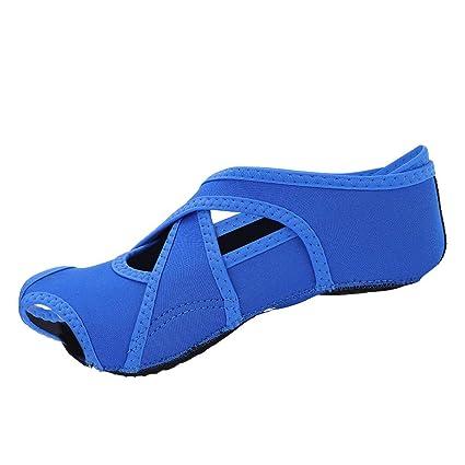 Calcetines de Yoga 1 Par de Zapatos Abiertos Antideslizantes Pilates Barre Soft Wrap Zapatos de Entrenamiento de Baile para Ballet
