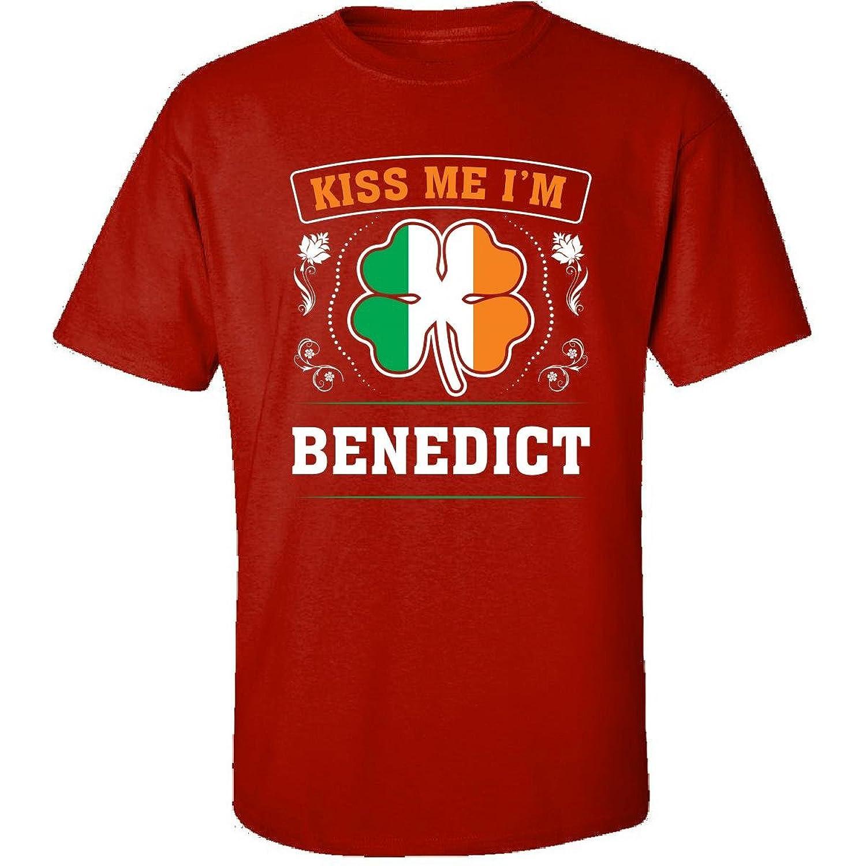 Kiss Me Im Benedict And Irish St Patricks Day Gift - Adult Shirt