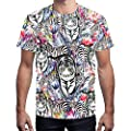 HOCOOL Fashion 3D Print Graphic Tee Quick Dry Casual Shirts Crewneck Base Top