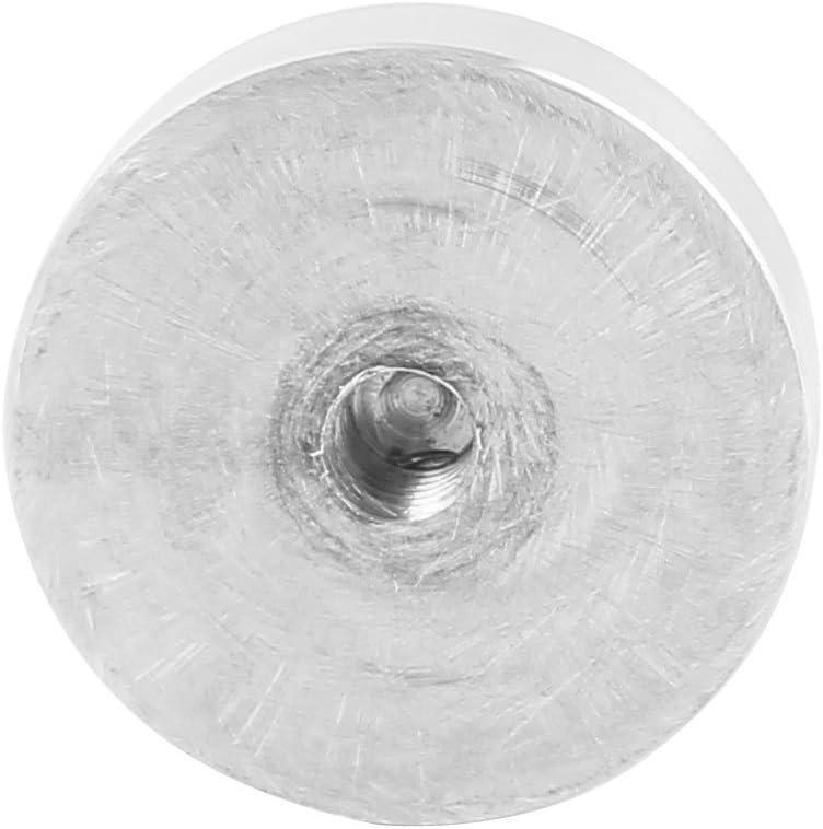 4 pezzi per tavolo in vetro ID Aexit Disco in alluminio da 4 mm con diametro 40 mm 102203 disco in alluminio
