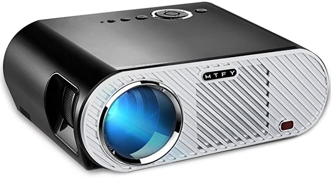 MTFY Projector-3200 Lumens Portable LED HD 1080P Video Projector-Home Theater Projector Support HDMI USB SD VGA AV for ...