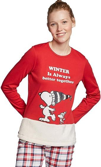 GISELA Pijama Largo Snoopy de Mujer