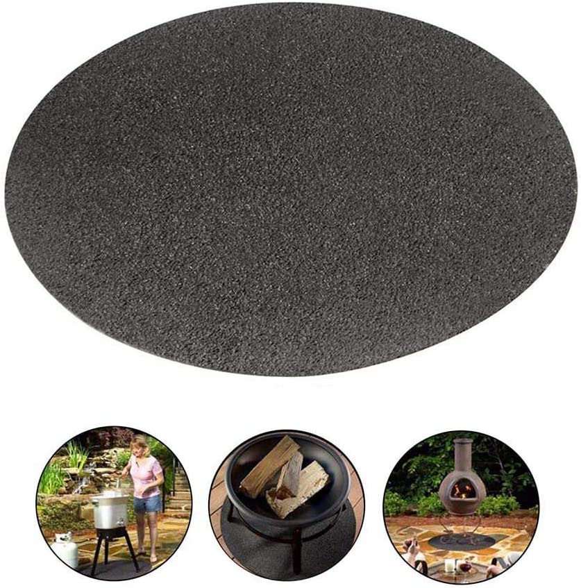 Protects Decks Patios Outdoor Gas Grill Bbq Fire Pit Mat Under Grill Gear Flame Retardant Mats Barbecue Grilling For Gas Absorbing Oil Pads Reusable Durable Washable Floor Mat Protect Decks Barbecue Smoker