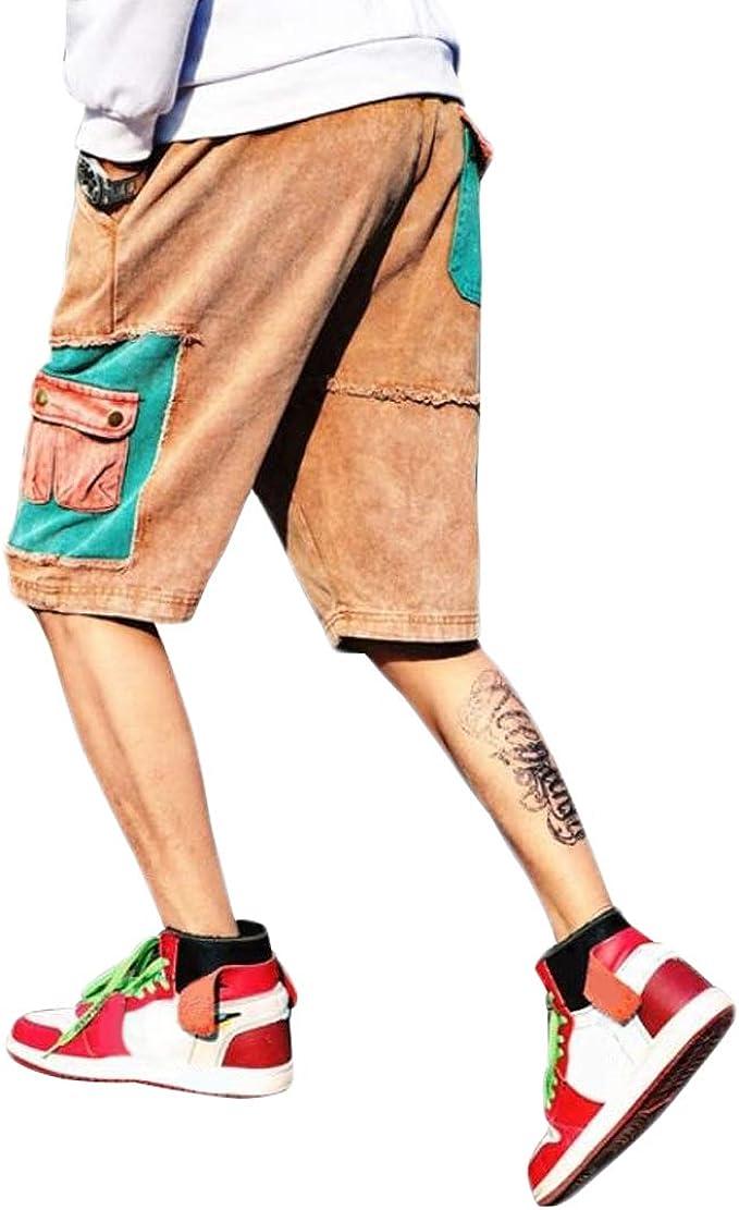 Irypulse Jeans de Algodón Hombre, Pantalones Cortos Cargo de ...