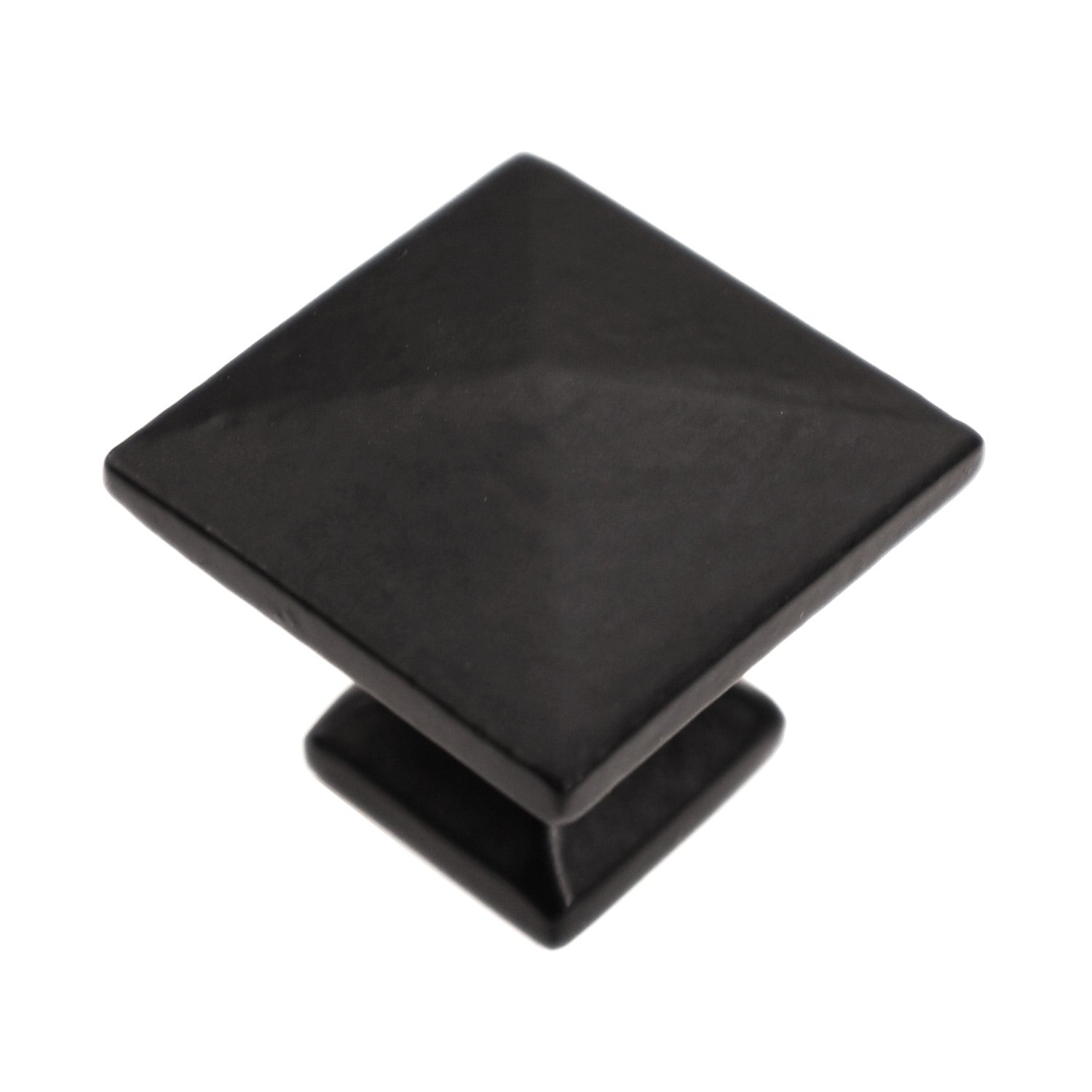 """Iron Valley - 1-1/4"""" Modern Square Cabinet Knob - Pack of 10 - Solid Cast Iron"""