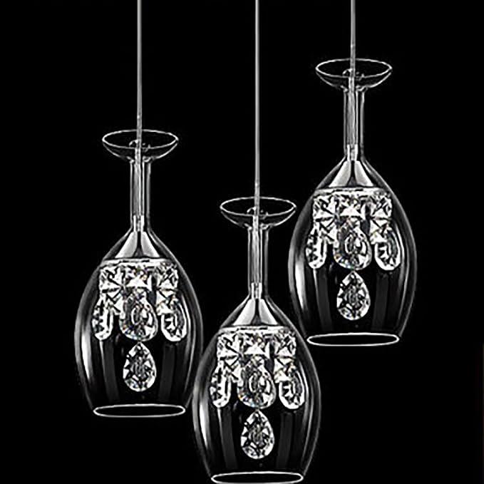 Trois Cristal Verre Taps Moderne Oofay Têtes À Vin Chandelier FK3uTl1Jc