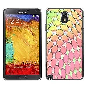 Be Good Phone Accessory // Dura Cáscara cubierta Protectora Caso Carcasa Funda de Protección para Samsung Note 3 N9000 N9002 N9005 // Modern Computer Art Wallpaper Pink Yellow
