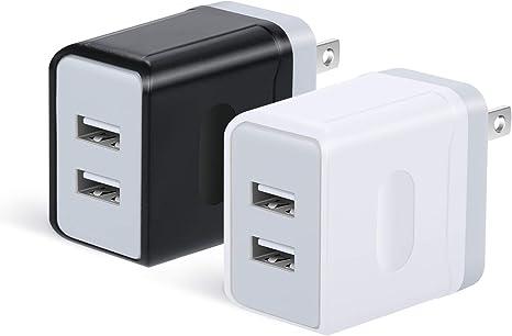 Amazon.com: OKRAY Cargador de pared USB, 2 unidades, 5 V/3 A ...