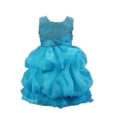 PIN Abito Bambina Principessa Vestito da Cerimonia per la damigella Bowknot  Floreale Abiti per 4f914d39998