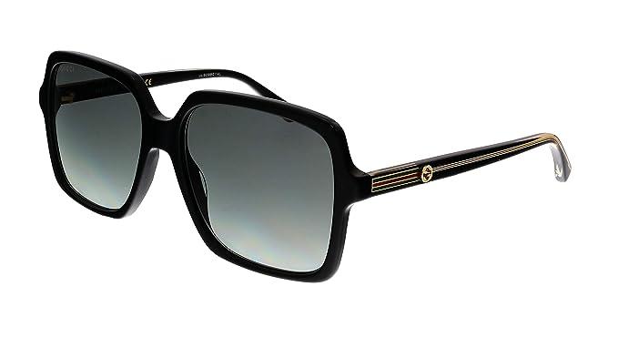 Amazon.com: Gafas de sol Gucci GG 0375 S- 001 negro/gris ...