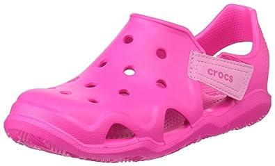 Crocs 204021, Zapatos de Cordones Oxford Unisex Niños, Rosa (Neon Magenta), 29/30 EU