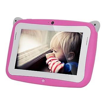 JEJA 4,3 pulgadas de dibujos animados lindo mini niños de los niños Tablet WIFI Google Android 4.2 4GB de doble cámara de Juego Estudio 5 Point pantalla ...