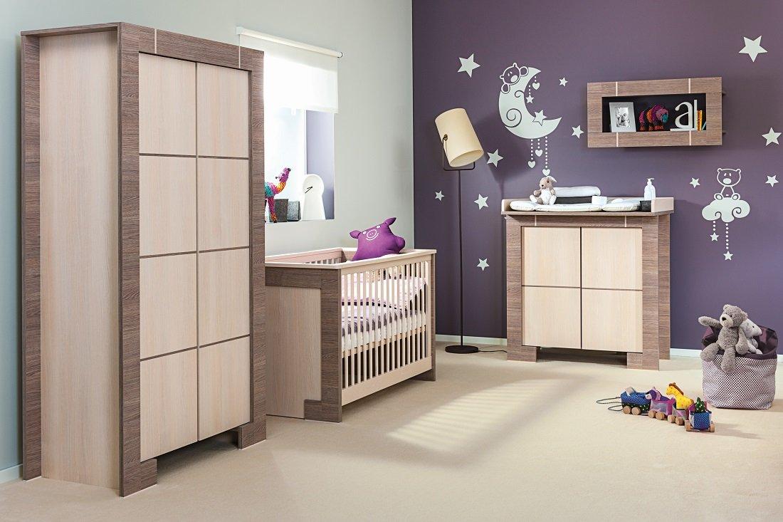 Babyzimmer Kinderzimmer NEW GENERATION Eiche Grau & Creme ...