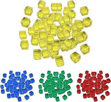 Sharplace 400pcs 10mm 4 Colores Juegos de Mesa Cubo Dados Transparentes: Amazon.es: Juguetes y juegos