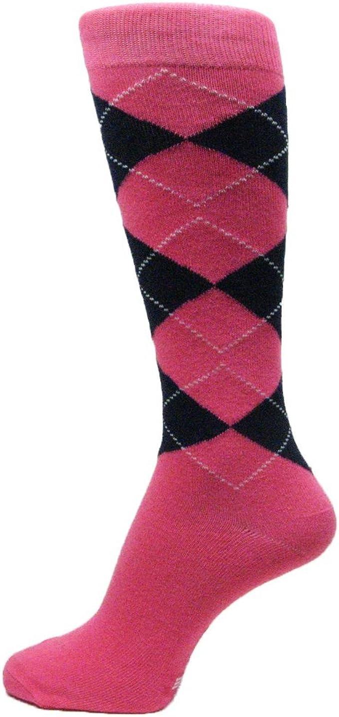 Light Pink //Light Heather Gray //White Groomsmen Wedding Argyle Dress socks