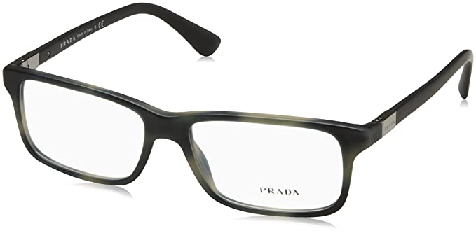 fe45f2c2b61 Amazon.com  Prada PR06SV Eyeglass Frames USD1O1-56 - Matte Striped ...