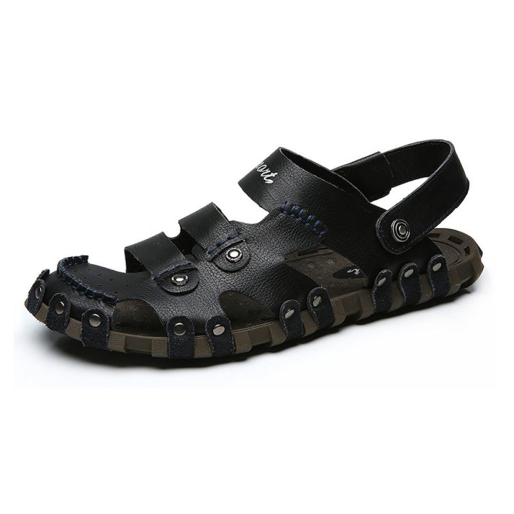 Sandalias para Hombres Zapatos Casuales para Hombres Hueco Transpirable 42 EU Black