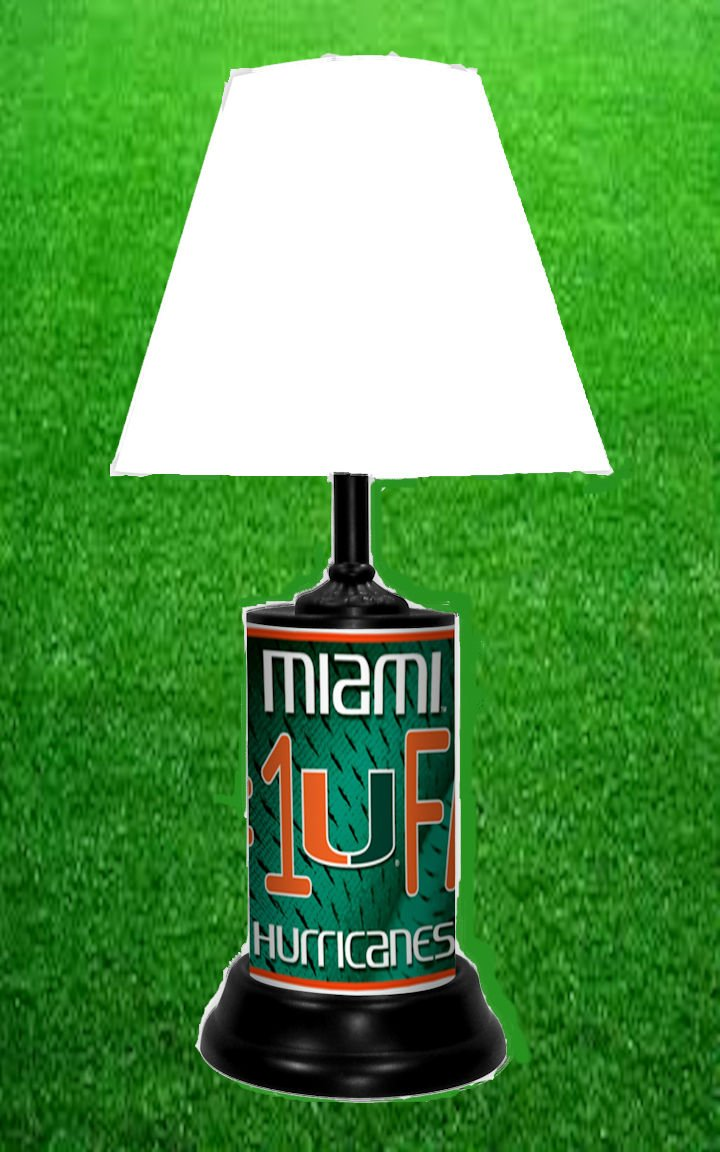 MIAMI HURRICANES NCAA LAMP - BY TAGZ SPORTS
