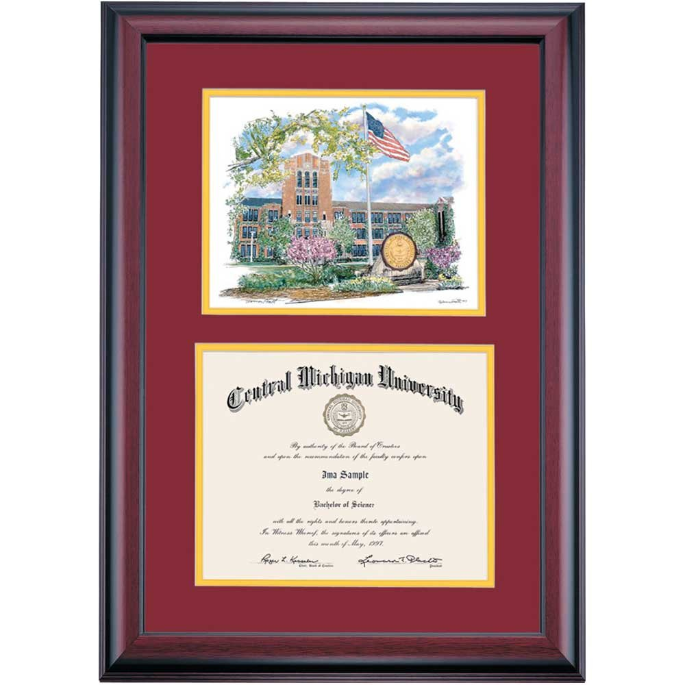 Amazon Campus Linens Central Michigan Chippewas Diploma Frame