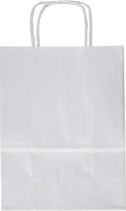 Sac de Courses en Papier avec Anse Marron Lot de 25
