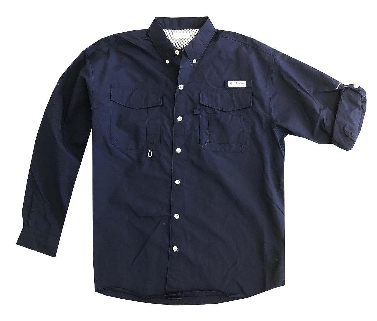 Columbia Men/'s PFG Omni-Shade UPF 30 Distant Water Convertible Sleeve Shirt
