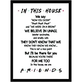 LaurBella for Friends Quotes TV Poster in This House Sign Family Rules Friends TV Show Poster Funny Quotes Bedroom…