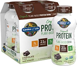 Garden of Life Organic Plant-Based Protein Shake - Chocolate, 16-Pack, Vegan Ready to Drink Protein Shakes, 21g Clean Protein, 5g MCTs, 16-11 fl oz Non Dairy Plant Based Drinks *Packaging May Vary*