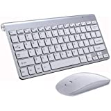 Wireless Keyboard and Mouse Combo 2.4G Portable Mini Small Keyboard Mouse Set Slim Compact for Windows Mac Laptop…
