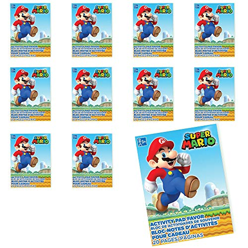 Party City Super Mario Coloring Books 48 Count, Birthday Party Favors for Kids, 20 Sheets Each ()