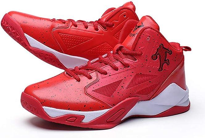 Juventud Top del Alto De Zapatos Deportivos, Zapatos De Moda Zapatillas De Baloncesto De Los Hombres De La Calle Road Aire Libre Zapatillas Running Zapatos para Caminar,Rojo,42: Amazon.es: Hogar