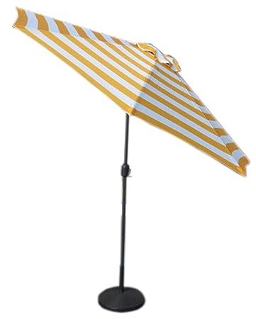 VMI M-03581 Striped Umbrella, Large, Yellow