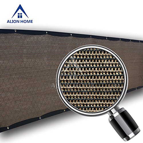 Alion Home Classy Durable Privacy Screen For Balcony, Pool, Railing, Backyard Deck, Patio, Fence, Porch – Mocha Brown (5′ x 50′) For Sale