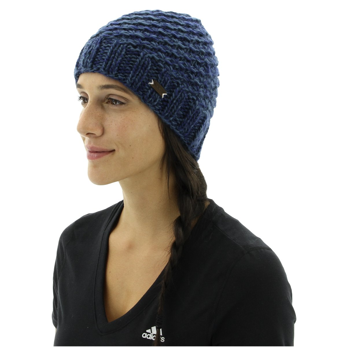 ac6555a3c6672f Amazon.com: adidas Women's Whittier Beanie, Pigment Navy - Dusty Steel  Marl/Super Pink, One Size: Sports & Outdoors