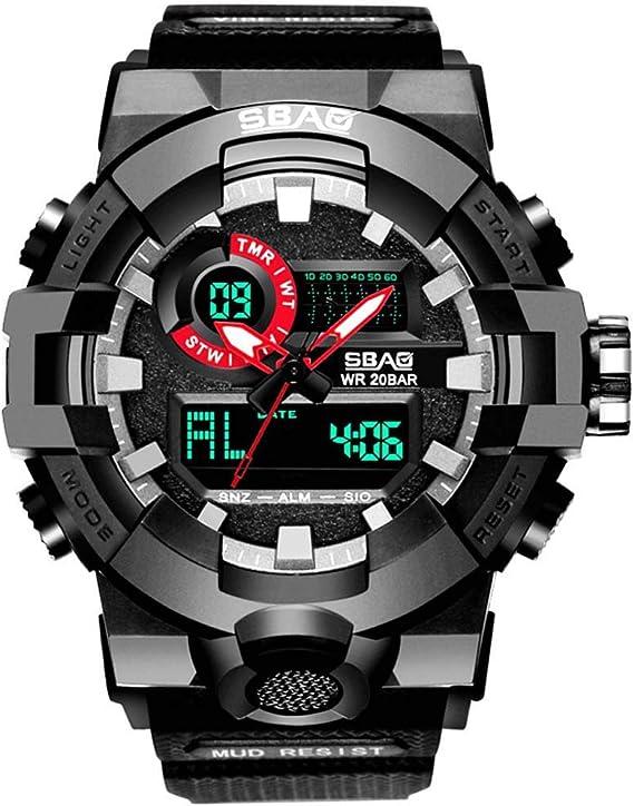 DAYLIN Relojes Deportivos Hombre Reloj Digital Despertador Reloj Pulsera Actividad Militar de Cuarzo Reloj Fitness ...