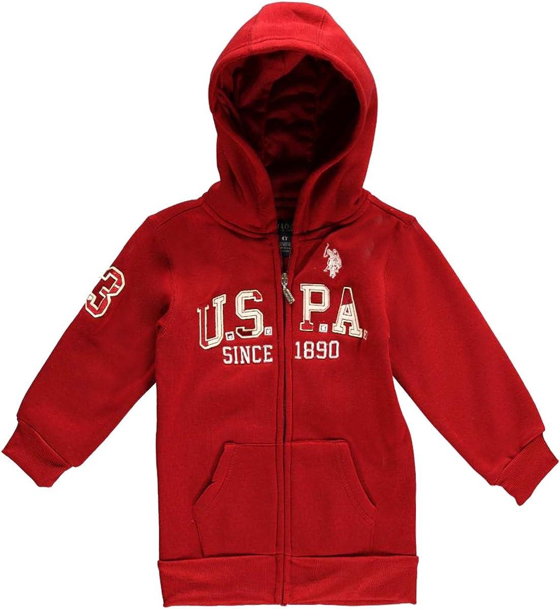 Polo Assn Little Boys Boys Zip-Front Fleece Hoodie Sweatshirt U.S