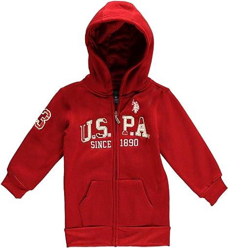 Little Boys Fleece Hooded Childrens Apparel U.S Pick SZ//Color. US Polo Assn