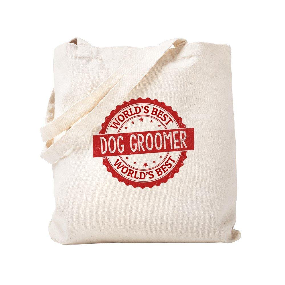fbf1ccf6a8c Amazon.com: CafePress - World's Best Dog Groomer - Natural Canvas ...