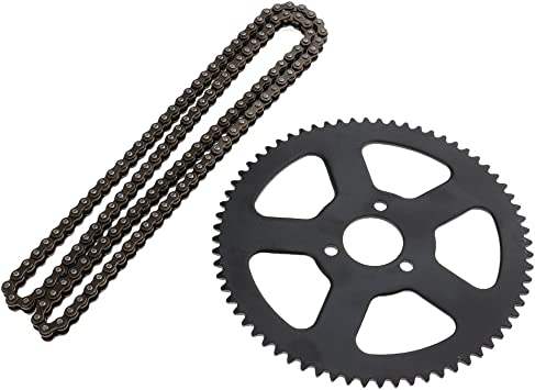 25H Roller Chain 68 Links KESOTO 68T Rear Sprocket Engine T8F 6T Clutch Drum Gear Box Front Pinion for 49cc Pocket Bike ATV Quad Scooter 2 Stroke