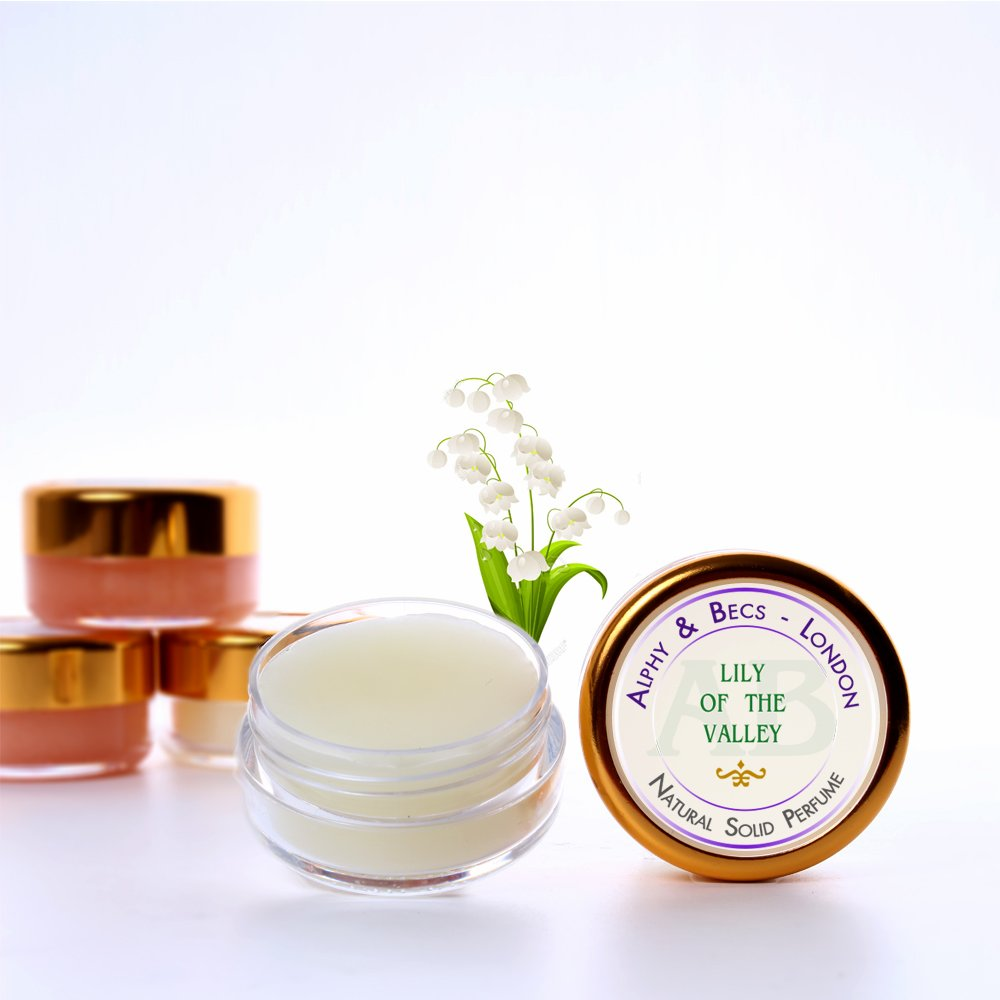 1pc - Natural Solid Perfume for Women - Lily Of The Valley - in a Pot - 10 ml Alphy & Becs