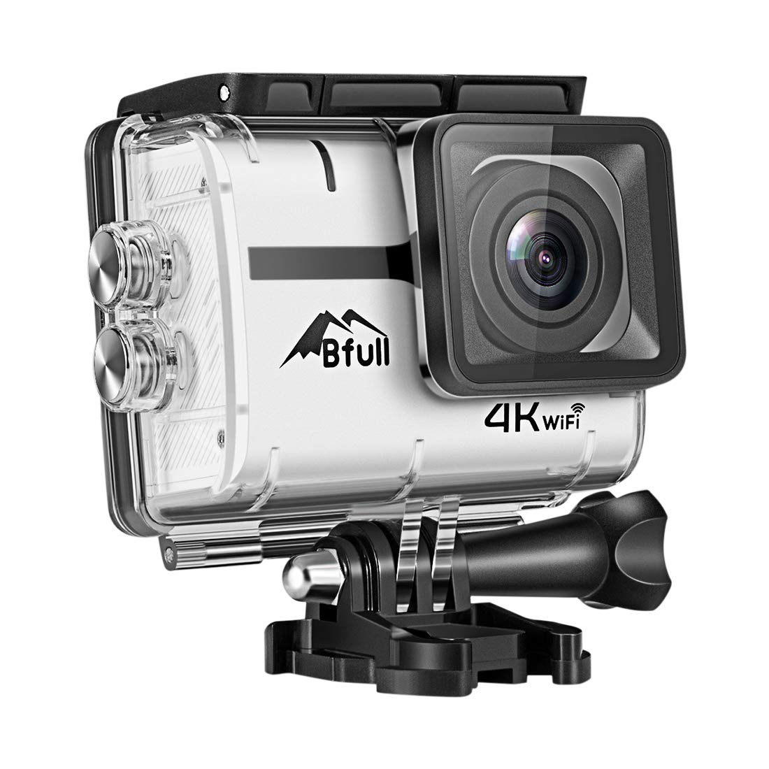 Bfull Action Camera, 4K 16MP Sport Action Camera WIFI 170°Wide Angle Len with SONY Sensor Full HD Waterproof 30m Underwater DV Camcorder with 2 Rechargeable Batteries and Mounting Accessory Kits by BFULL