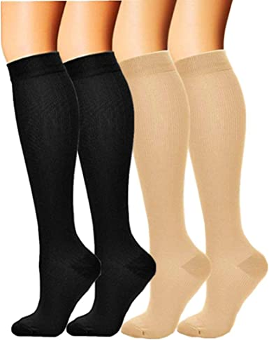 Top Compression Mmhg High Socks Calf Support Comfy Relieve Leg Men /& Wo Fp