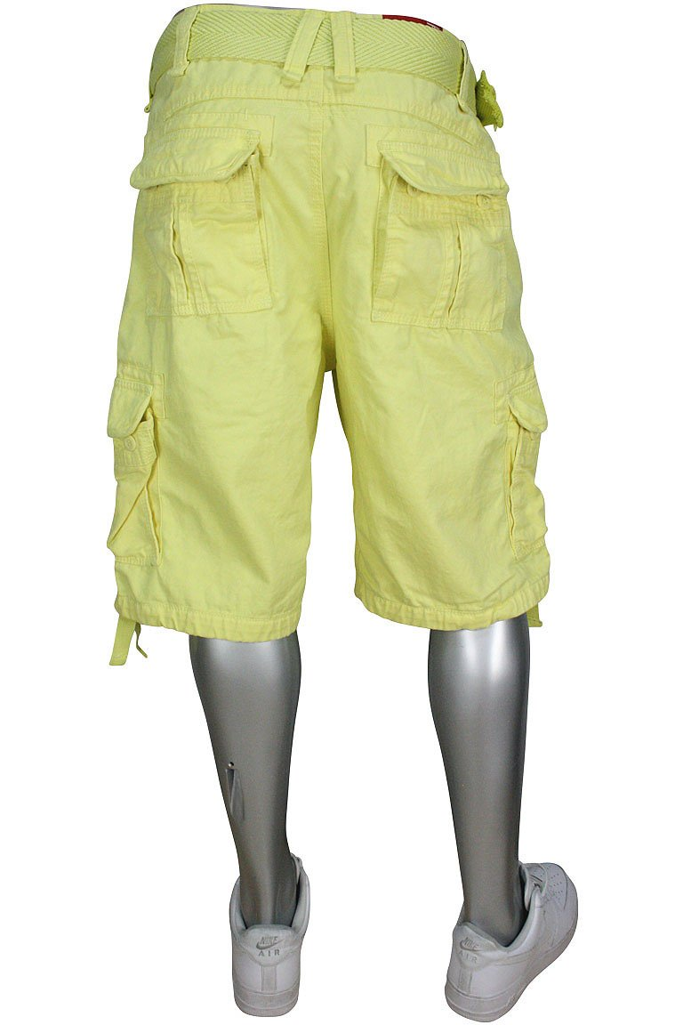 4300A-56 MEN CARGO SHORTS JORDAN CRAIG P/YELLOW by Jordan Craig