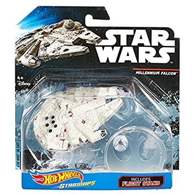 Hot Wheels Star Wars Rogue One Starship Vehicle, Millennium Falcon: Toys & Games