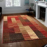 Prestige Decor Area Rugs Verdi Collection Area Rug Shag Rug Easy Clean Shaggy Area Rug Living Room Carpet Kitchen Area Rug Modern Geometric Multi-color Shag Area Rug 2×5 Clearance Living and Bedroom Review