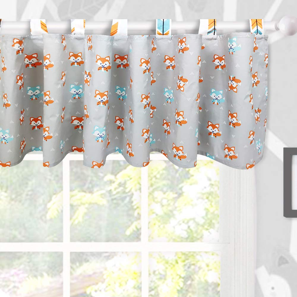 Brandream Window Valance Cotton Curtain for Baby/Toddler/Kid Bedroom Bath Laundry Living Room Decor, Woodland Fox Arrow Pattern by Brandream