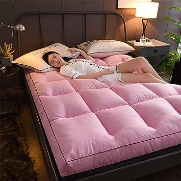 Love House Gruesas Colchón Tatami colchones para Cama, Pluma Futón,Esteras del Tatami Japonés Felpa Hotel de Calidad colchón-10cm-hipoalergénico-rosado ...