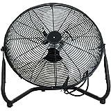 UBRTools 20 High Velocity Floor Fan 3 Speed with Tilt Stand Black, Indoor Portable Fan
