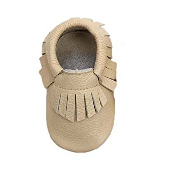 d964bffe0d72b Amazon.com : Sunward Baby Tassel Soft Sole Cow Leather Shoes Infant ...