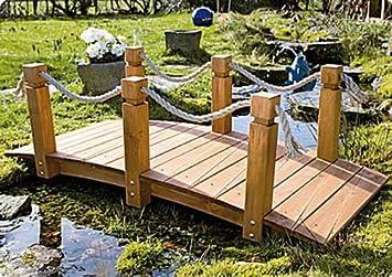 Teich-Brücke aus Holz für Gartenteich: Amazon.de: Garten